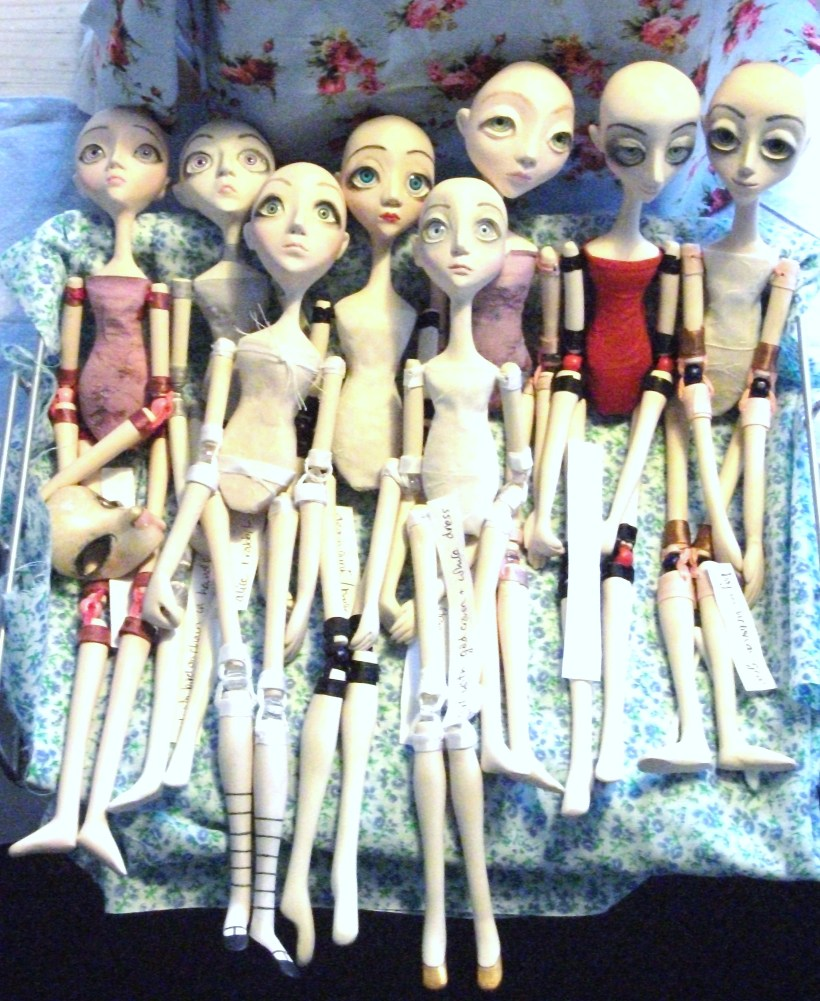 working on new art dolls